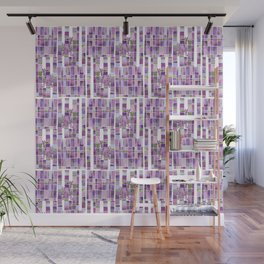 violet garden checkerboard pattern Wall Mural