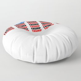 Re-Elect Trump for President. Keep America Great! Light Floor Pillow