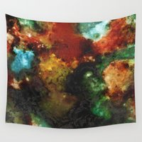 geode Wall Tapestries featuring Geode III, Malachite by Titania Designs