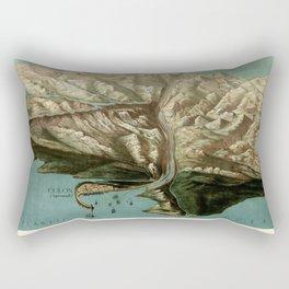 Map Of Panama Canal 1881 Rectangular Pillow