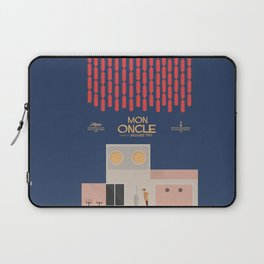 Mon Oncle - Jacques Tati Movie Poster, classic French movie, old film, Cinéma français, fun, humor Laptop Sleeve