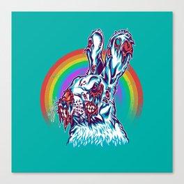 Zombie Rabbit Canvas Print