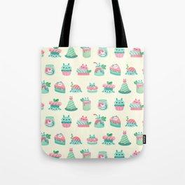Choco Mint Rabbit Tote Bag