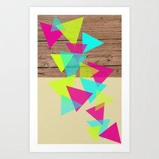Wood Triangles Art Print