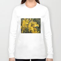 marc johns Long Sleeve T-shirts featuring Beautiful St Johns Wort by Wendy Townrow