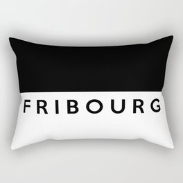 fribourg region switzerland country flag name text swiss Rectangular Pillow