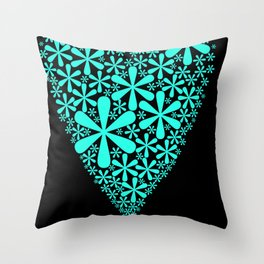 asterisk heart Throw Pillow