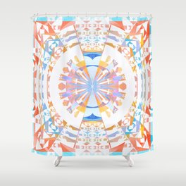 Rainbow Earth Souls Healing Mandala Shower Curtain