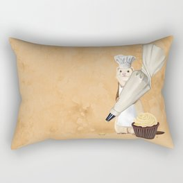 Ferret and Frosting Rectangular Pillow