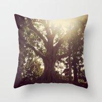 botanical Throw Pillows featuring Botanical by radiantlee