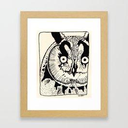 Great Horned Owl Illustration Framed Art Print