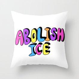 ABOLISH ICE Throw Pillow
