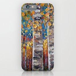 Autumn Aspen Colors Palette Knife iPhone Case