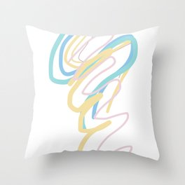 Doodle Writing Thinking Throw Pillow