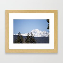 Eastern Washington Snow Obstacles  Framed Art Print