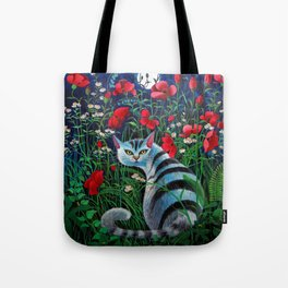 Cat in the Night Tote Bag