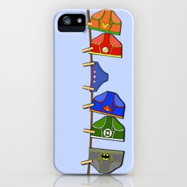 Laundry Day at the Hall of Justice iPhone Case