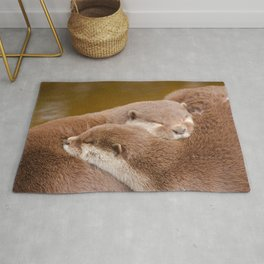Cuddling Up Together - Otterly Cute Rug