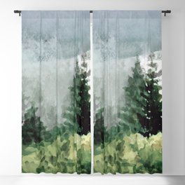 Pine Trees 2 Blackout Curtain