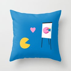 Office Romance Throw Pillow