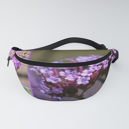 Purple Violet Pink Flowers Collage Fanny Pack