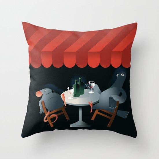 Feed the birds Throw Pillow