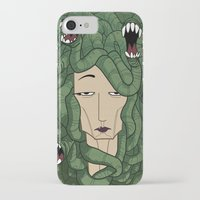 medusa iPhone & iPod Cases featuring Medusa by Tram