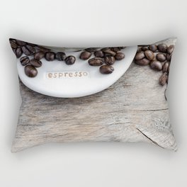 Addiction - Fine Art Coffee Photo Rectangular Pillow