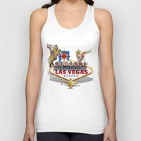 las vegas Tank Tops featuring Las Vegas Welcome Sign by Gravityx9