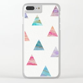 Marble Triangles Clear iPhone Case
