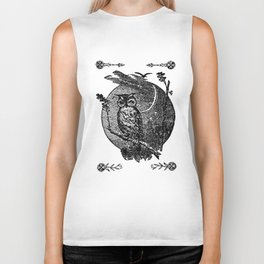 Owl in the Oak Biker Tank