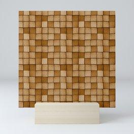 Wood Blocks-Brown Mini Art Print