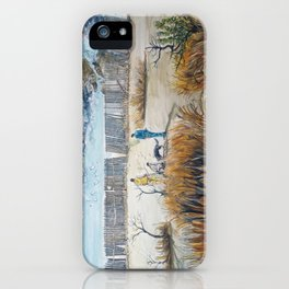 Traces of inner struggles iPhone Case