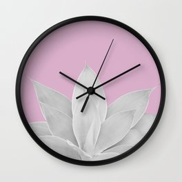Pink Lavender Agave #1 #tropical #decor #art #society6 Wall Clock