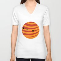 mars V-neck T-shirts featuring Mars by Sarah Crosby