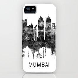 Mumbai India Skyline BW iPhone Case