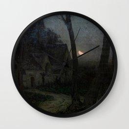 Emile Adelard Breton - Paysage de nuit (vue d'Englos-lez-Lille) Wall Clock