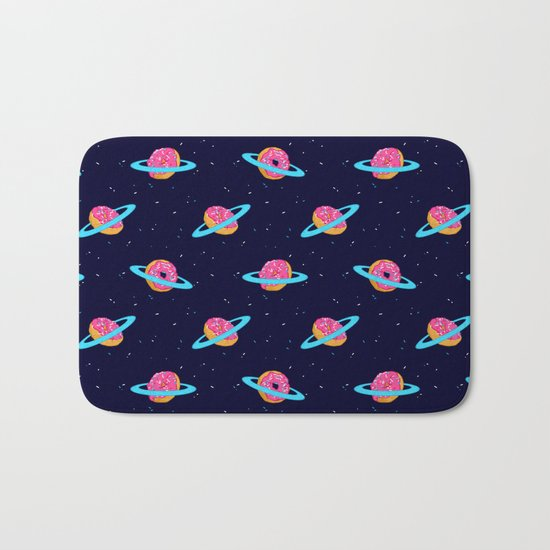 Sugar rings of Saturn Bath Mat