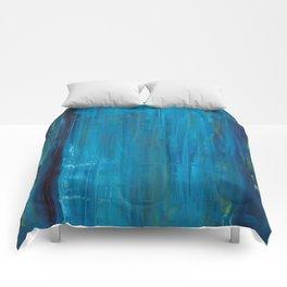 blue vertical Comforters