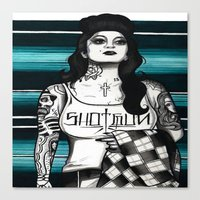 gangster Canvas Prints featuring gangster by frankcaponefelix