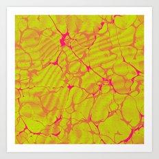 Marble Splash Art Print