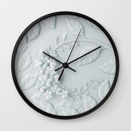 Fleur Blanche Wall Clock