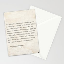 """To laugh often and much; to win...Ralph Waldo Emerson Stationery Cards"