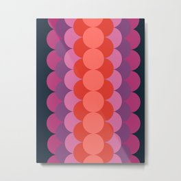 Zoinks - retro vibes 70s style throwback minimalist decor art pattern print Metal Print