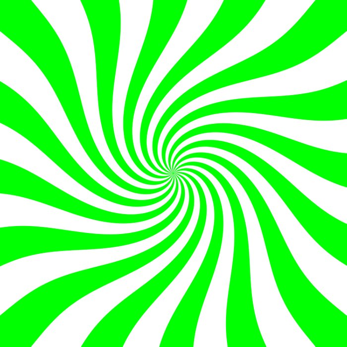 Swirl (Green/White) Duvet Cover