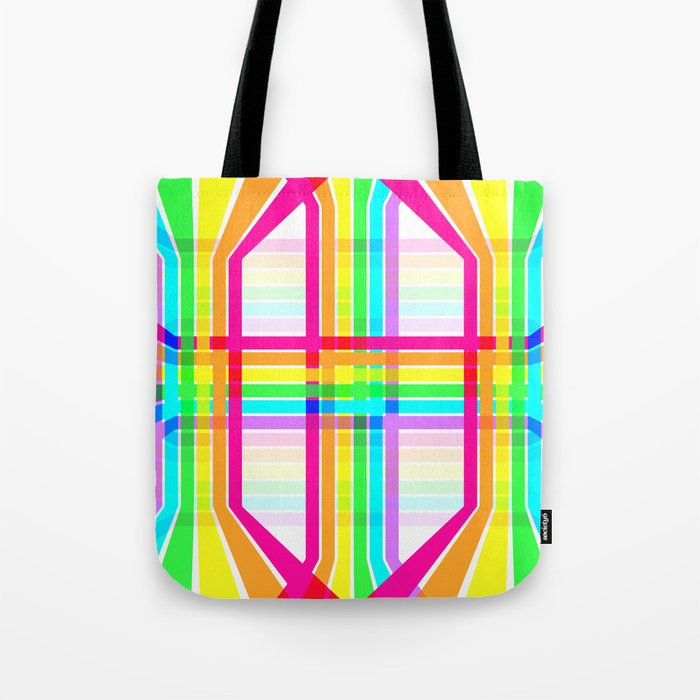 Weaved Rainbow Tote Bag