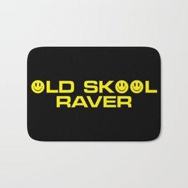 Old Skool Raver Music Quote Bath Mat