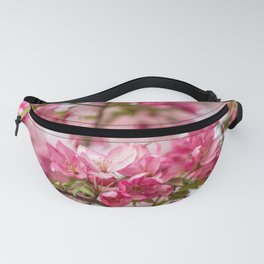 Bright Pink Crabapple Blossoms Fanny Pack