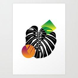 Philodendron, monstera deliciosa. Art Print