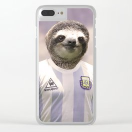 Football Sloth Clear iPhone Case